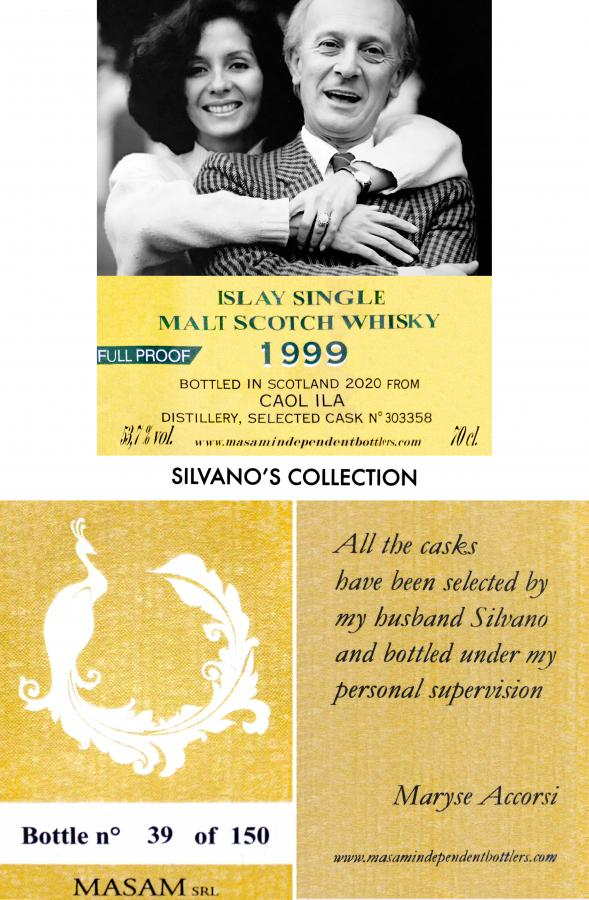 Caol Ila 21 Year 1999 Masam Silvano's Collection tag