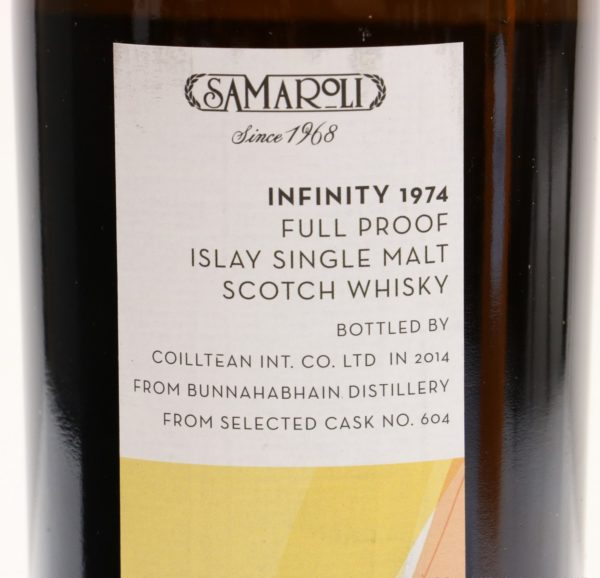 Bunnahabhain 40 Year 1974 Samaroli Infinity back top