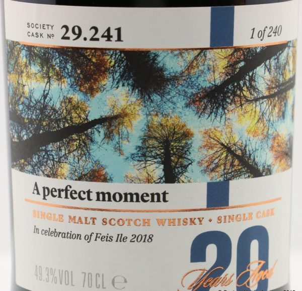 Laphroaig 20 Year 1996 SMWS 29.241 A Perfect Moment Label